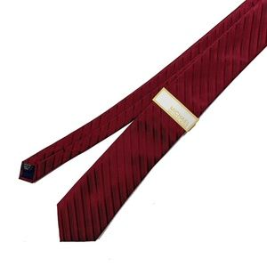 New With Tags Michael Kors Red Striped Neck Tie